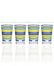 Fiesta Lapis Stripe Set of 4 Highball Glasses