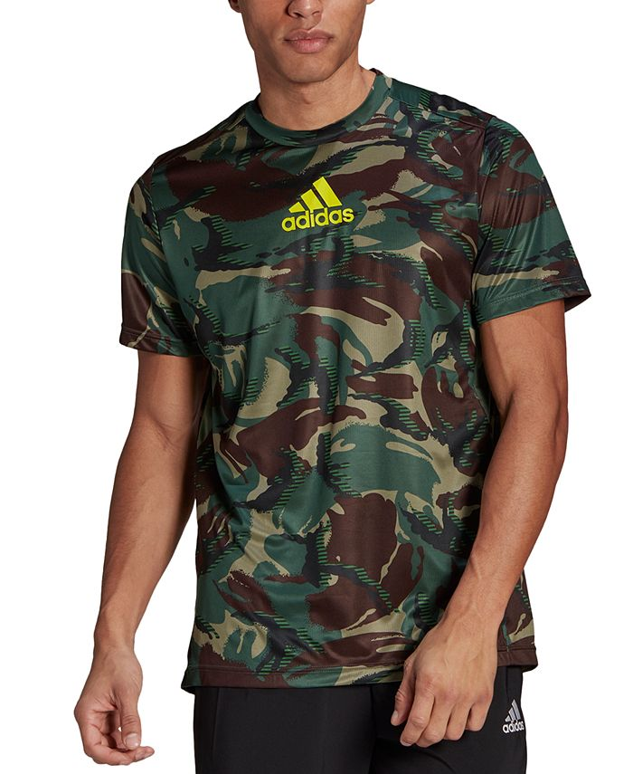 adidas Men's Designed 2 Move Camo Printed T-Shirt & Reviews ...
