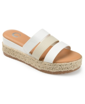 Journee Collection WHITTY ESPADRILLE SLIDE SANDALS WOMEN'S SHOES