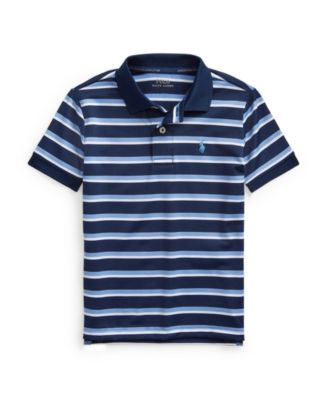 폴로 랄프로렌 남아용 폴로티 Polo Ralph Lauren Little Boys Striped Performance Jersey Polo Shirt,Navy