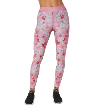 Floral-Print Pull-On Leggings