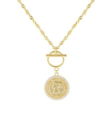 Pave Coin X Toggle Necklace