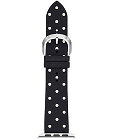 Black Polka Dot Silicone 38/40mm Band for Apple Watch®