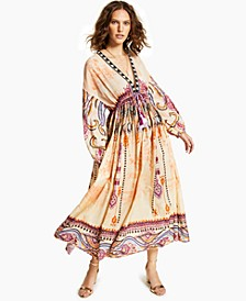 INC Luxe Drawstring-Waist Maxi Dress, Created for Macy's