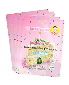 Almond Oil and Vitamin-C Face Mask Set of 4 Mask, 0.88 oz