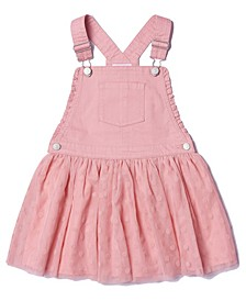 Toddler Girls Flocked Dot Tulle Skirtall