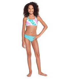 Big Girls Bikini Set with Back Cutouts, 2 Piece