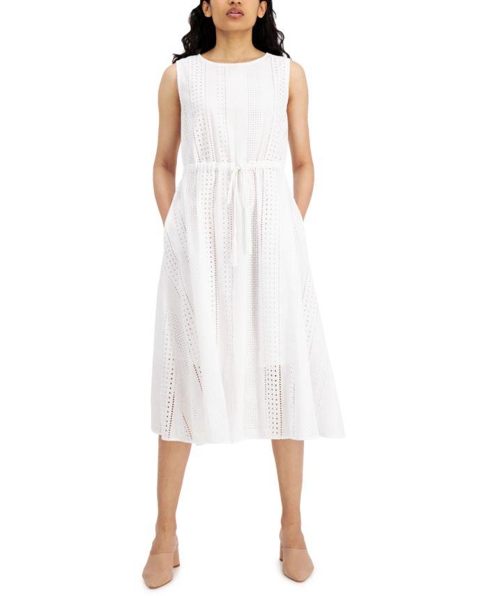 Marella Cotton Neptune Eyelet Dress & Reviews - Dresses - Women - Macy's