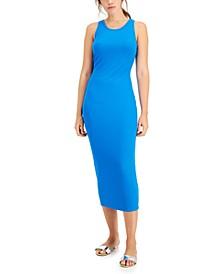 Rib-Knit Midi Dress