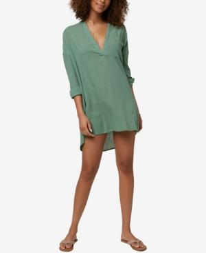 O'neill Juniors' Belizin Cotton Cover-up Tunic Women's Swimsuit In Green