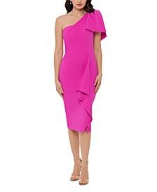 One-Shoulder Bow Sheath Dress
