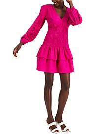 INC V-Neck Smocked Dress, Created for Macy's