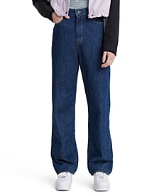 Women's High-Waisted Straight Jeans