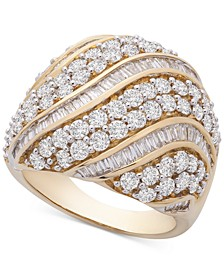 Diamond Curved Row Dome Ring (3 ct. t.w.) in 10k Gold