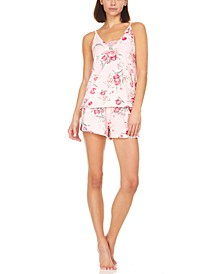 Averie Rib-Knit Cami & Tap Shorts Pajama Set
