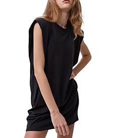 Cotton Shoulder-Pad Dress