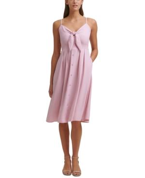 Tie-Front Picnic A-Line Dress