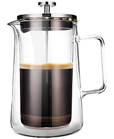 French Press Double-Walled Glass Coffee Maker