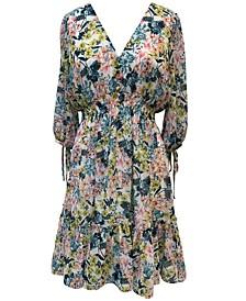 Floral-Print Peasant Dress