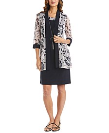 Floral-Print 2-Pc. Jacket and Necklace Dress
