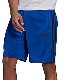 "Men's Designed 2 Move PRIMEBLUE 10"" 3-Stripes Shorts"