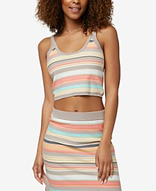 Juniors' Ryan Multi-Striped Tank Top