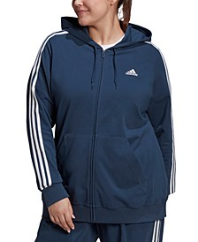 Essentials Plus Size 3-Stripe Knit Hoodie