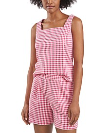 Tanner Gingham Tank Top, Created for Macy's