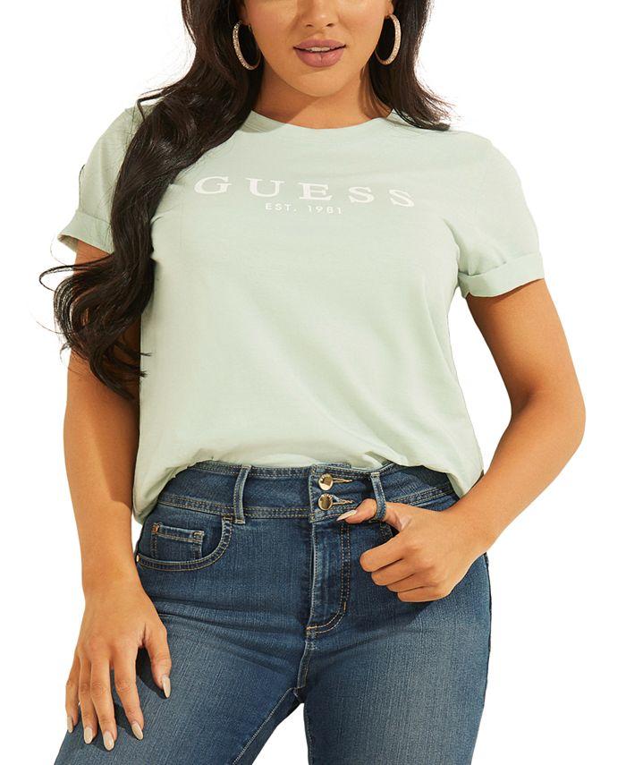 GUESS - Cotton Cuffed Logo T-Shirt