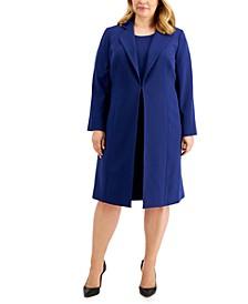 Plus Size Crepe Dress Suit