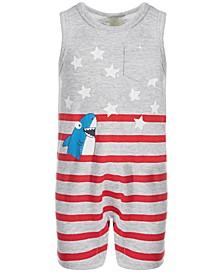 Baby Boys Stars & Stripes Shark Sunsuit, Created for Macy's