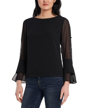 Vince Camuto Dresses TIERED CHIFFON TOP