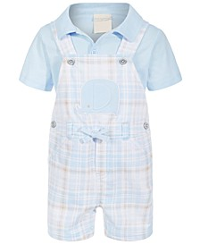Baby Boys 2-Pc. Elephant Shortall Set, Created for Macy's