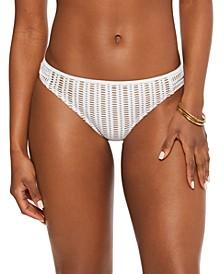 Crochet Side-Tab Hipster Bikini Bottoms, Created for Macy's