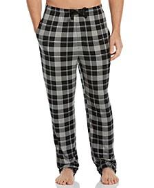 Men's Plaid Knit Pajama Pants
