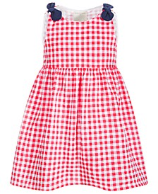 Baby Girls Gingham Cotton Dress, Created for Macy's