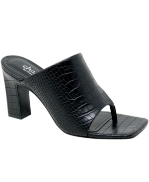 Charles By Charles David WOMEN'S JINGLE SQUARE TOE SANDALS WOMEN'S SHOES