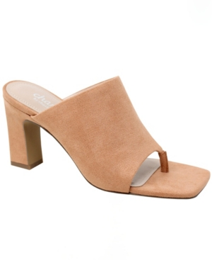 Charles By Charles David Slides WOMEN'S JINGLE SQUARE TOE SANDALS WOMEN'S SHOES