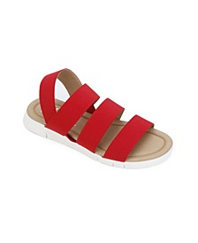 Women's Mandi Elastic Strappy Flat Sandal