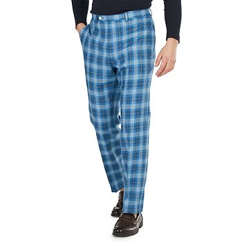 Lauren Ralph Men's Classic-Fit Plaid Dress Pants