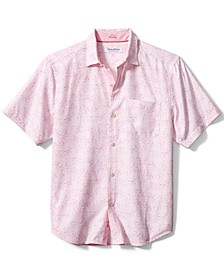 Men's Coconut Point Moisture-Wicking Mosaic Tile-Print Shirt
