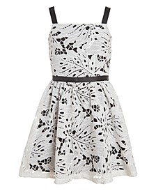 Big Girls Plus Eyelet Sleeveless Dress