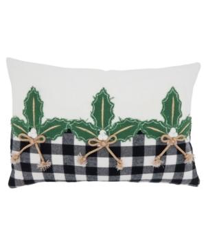 """Saro Lifestyle Pillows PILLOW COVER, 18"""" X 12"""""""