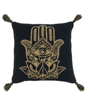 "Saro Lifestyle Pillows EMBROIDERED PILLOW COVER, 20"" X 20"""