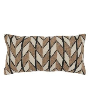 """Saro Lifestyle Pillows EMBROIDERED THROW PILLOW, 24"""" X 12"""""""