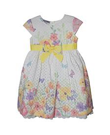 Little Girls Eyelet Border Dress