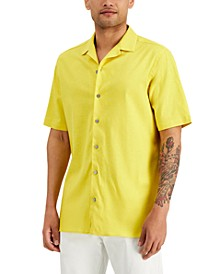 Men's Solid Camp Shirt, Created for Macy's