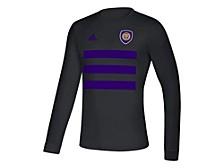 Orlando City Soccer Club Men's Three Stripe Life Pitch Creator Long Sleeve T-Shirt