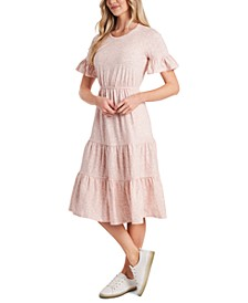 Petite Ruffled Tiered Midi Dress