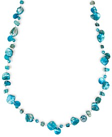 """Silver-Tone Shell & Bead 43"""" Strand Necklace, Created for Macy's"""